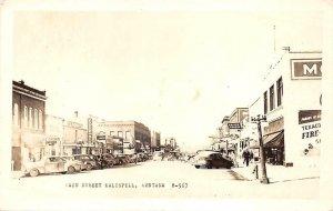 RPPC KALISPELL Main Street Scene Montana c1940s Vintage Postcard