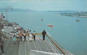 The Governors' Promenade,  St. Lawrence River,  Quebec,  Canada,  PU_1975