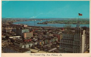 Postcard - New Orleans Showing Famous Mississippi River Crescent City, Louisiana