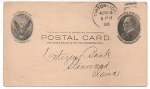 Penny Postcard UX18 Tipton Iowa 1908 McKinley