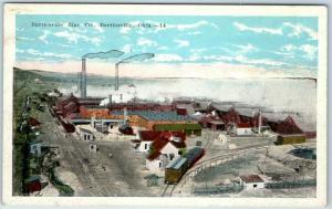 Bartlesville, Okla. Postcard BARTLESVILLE ZINC CO. Bird's-Eye View Mining 1930s