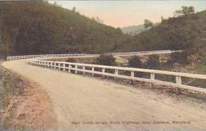 Maryland Oakland Bear Creek Gorge State Highway Handcolored Albertype