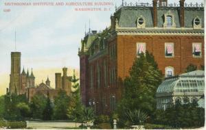Smithsonian Institute & Agriculture Building Washington DC Postcard E9