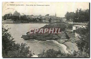 Old Postcard Pornic Loire Inf View from Anse aux Rabbits