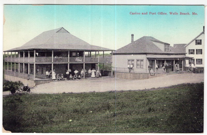 Wells Beach, Me, Casino and Post Office