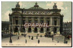 Old Postcard Paris L & # 39Opera