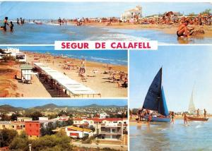 Spain Segur de Calafell Tarragona Several view of the beach