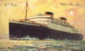 Georgic Cunard White Star Line Ship, Ships, Postcard Postcards  Georgic