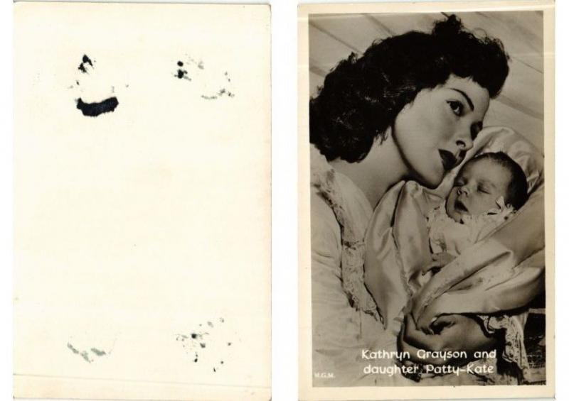 CPA AK Kathryn Grayson and daughter Patty-Kate FILM STAR (556216)