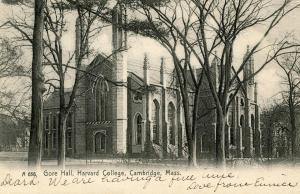 MA - Cambridge. Harvard College, Gore Hall