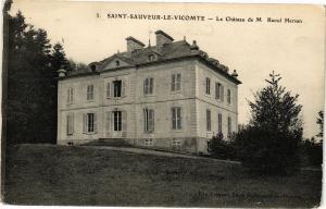 CPA St-SAUVEUR-le-VICOMTE-Le Chateau de M Raoul Hersan (27030)