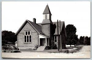 Atlanta Michigan~1948 Pontiac Streamliner Torpedo @ Congregational Church RPPC