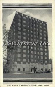 Hotel William R. Barringer Charlotte NC Unused