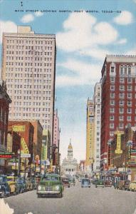 Main Street , Looking North , FORT WORTH , Texas , 30-40s
