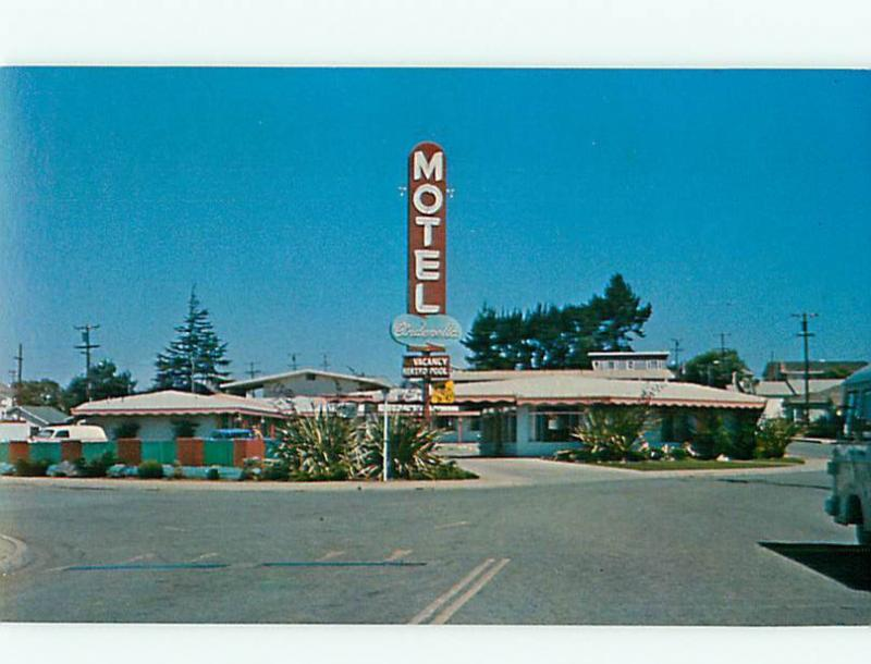 Watsonville CA  Motel Cinderella Motel Heated Pool Hwy 1 Hotel Postcard # 8324