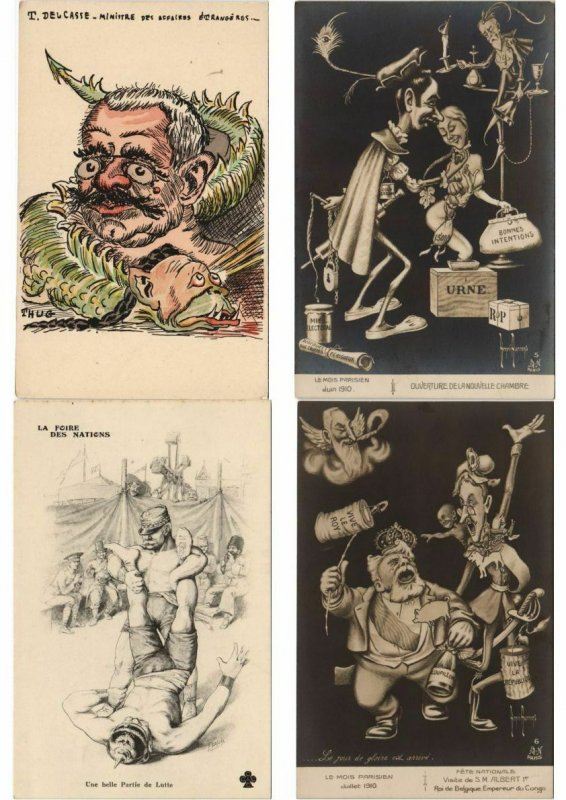 PROPAGANDA WWI SATIRE 500 CPA with lots of BETTER (L2996)