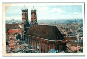 Munchen Munich Frauenkirche, German Cathedrals, Echte Wagner Trade Card *VT31V