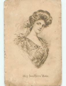 Divided-Back PRETTY WOMAN Risque Interest Postcard AA8100