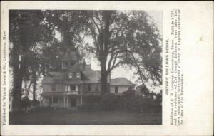 Lunenburg MA Bellows House c1910 Postcard