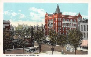 Missouri Mo Postcard c1910 SEDALIA Pettis County OHIO STREET South Hotel 4