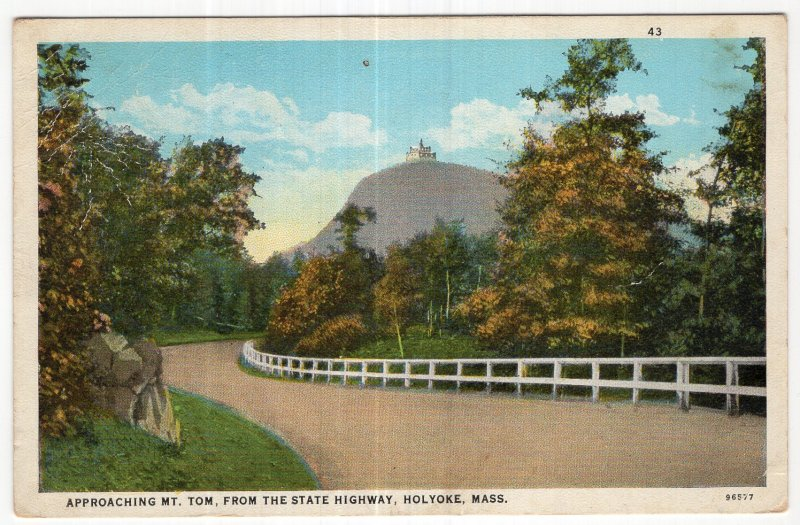 Holyoke, Mass, Approaching Mt. Tom, From The State Highway