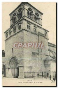 Old Postcard Epinal Saint Maurice Church Bell Tower