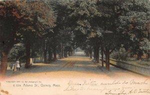 LPS75 Quincy Massachusetts Adams Street Vintage Postcard