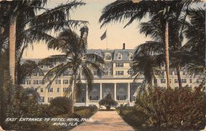Miami Florida~Hotel Royal Palm~East Entrance~Walk to Porch~1910 Postcard