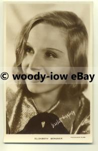 b2081 - Film Actress - Elisabeth Bergner - postcard