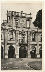 Northamptonshire Postcard - Kirby Hall - N.W. Entrance to Courtyard - Ref 8527A