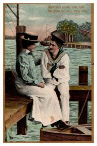 9192   Romace, Navy WWI, She's such a lady, Theochrom series 1085  4 0f 6