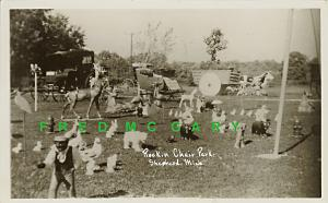 1952 Shepherd MI RPPC: Allen's Federal Rd Roadside Display