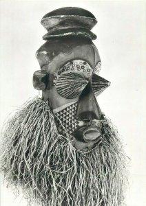 Demon cult mask Congo Kinshasa photo postcard