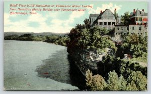 Chattanooga TN~Bluff View on Tennessee River @ Hamilton County Bridge~1910