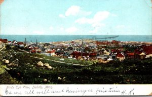 Minnesota Duluth Birds Eye View 1908