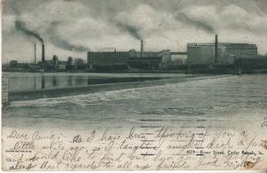 River Scene, Cedar Rapids 1907