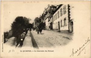 CPA QUIMPER - La descente du Picheri (457570)