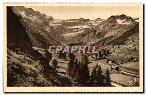 Pyrenees Old Postcard Gavarnie view taken beyond the town