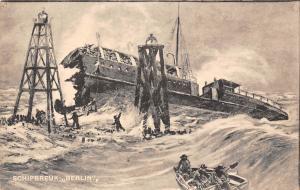 Het redden van de laatste Schipbreukelingen der Berlin Boat Sinking