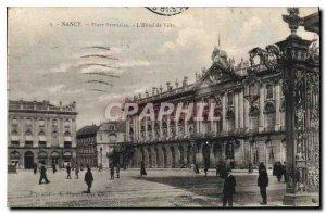 Postcard Old Place Stanislas Nancy Hotel de Ville