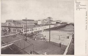 Boardwalk, and Young's Pier, Atlantic City, New Jersey, 1900-1910s