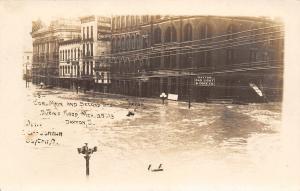 Dayton Ohio~Gas & Light Co~Underhood Confectionary Mfg~Flood RPPC 1912