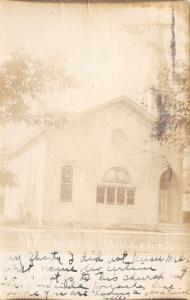 Marshall Wisconsin~Methodist Episcopal Church~1907 Real Photo Postcard~RPPC
