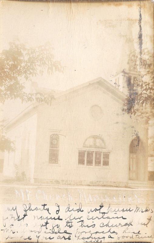Marshall Wisconsin~Methodist Episcopal Church~1907 Real Photo Postcard~RPPC