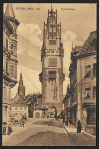 City Gate Tower Freiburg Schwabentor GERMANY Unused c1910s