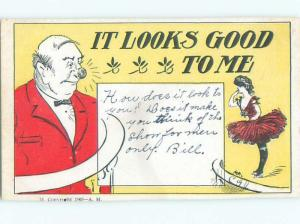 Divided-Back PRETTY WOMAN Risque Interest Postcard AA7988
