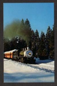 CA McCLOUD River Railroad Train SHASTA CITY CALIFORNIA