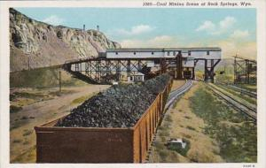 Wyoming Rock Springs Coal Mining Scene
