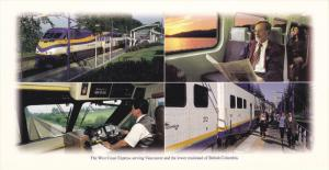 West Coast Express Railroad Train , VANCOUVER , B.C. , Canada , 60-80s