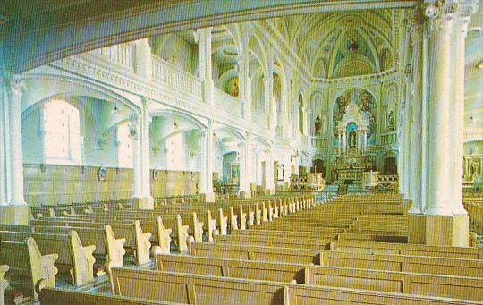 Canada Nova Scotia Cape Breton Interieur De L Eglise Saint Pierre Cheticamp
